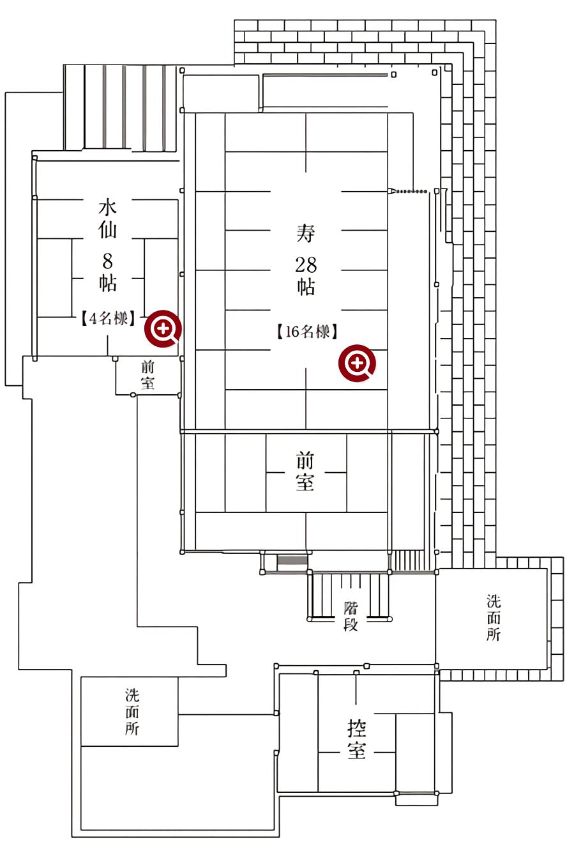 福田家 店内見取り図 二階